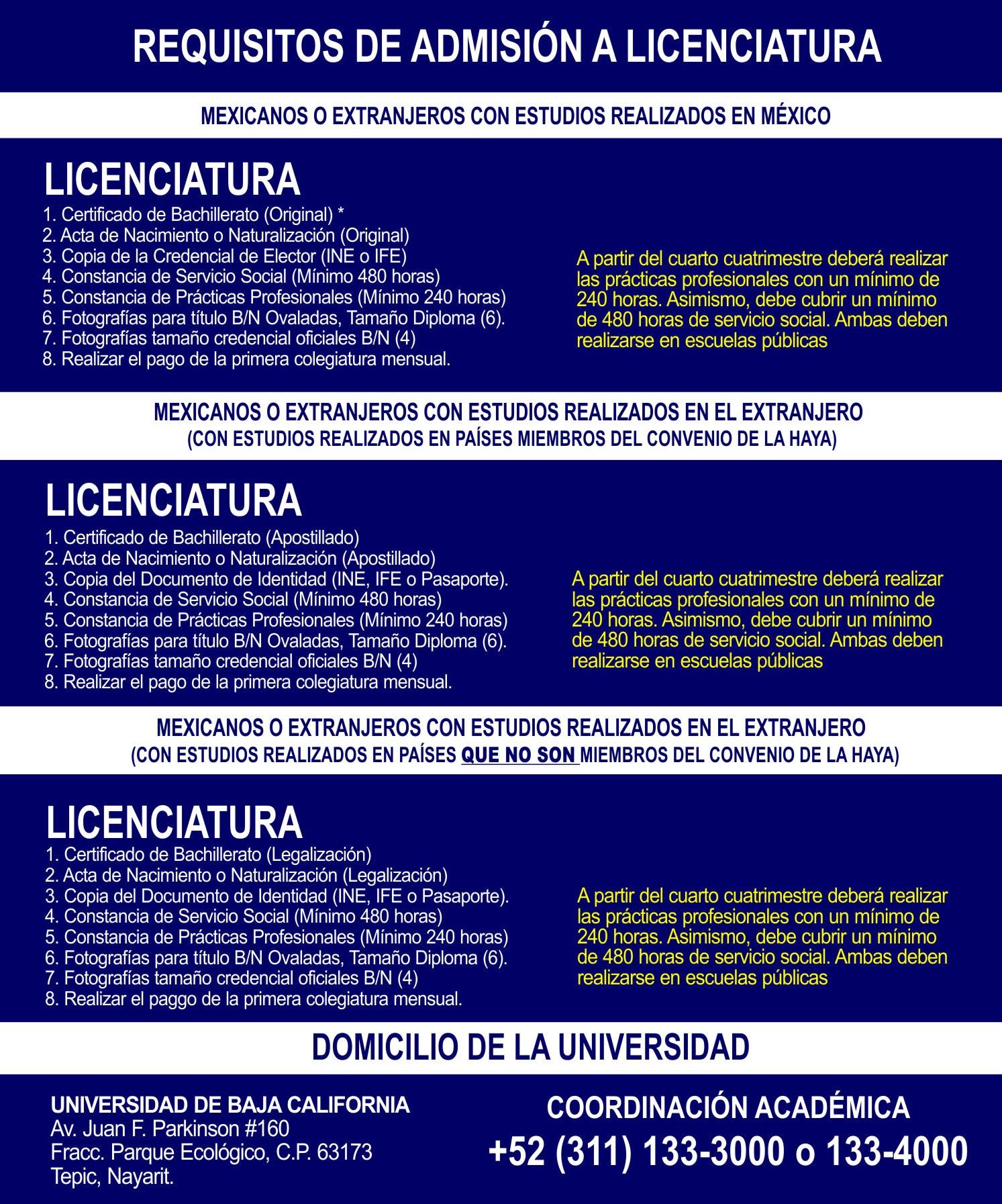 Inscripción A Licenciaturas Universidad De Baja California