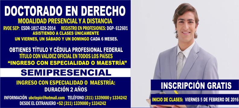 Doctorado en Derecho 2016