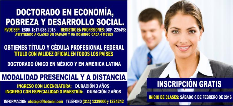 Doctorado en Economía 2016