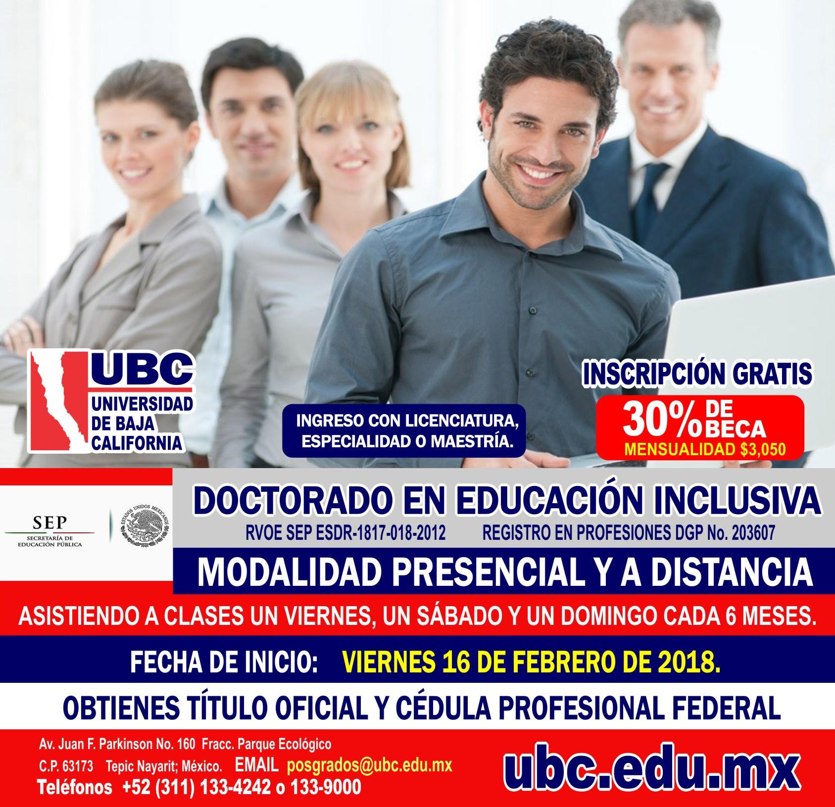 Doctorado en Educación Inclusiva