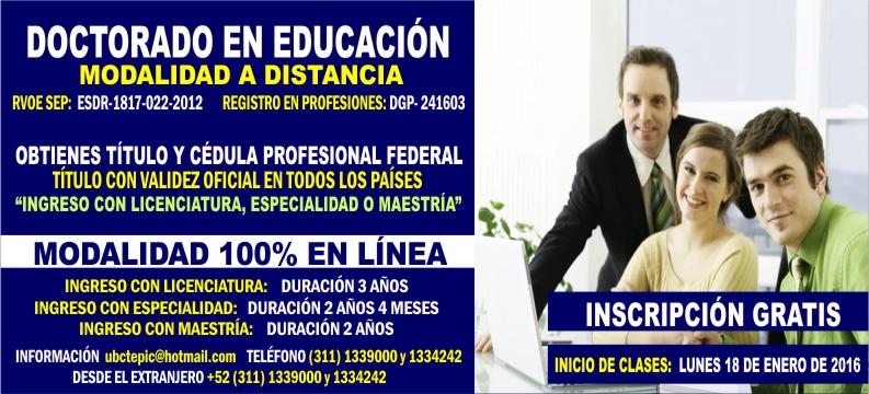 Doctorado en Educación 2016