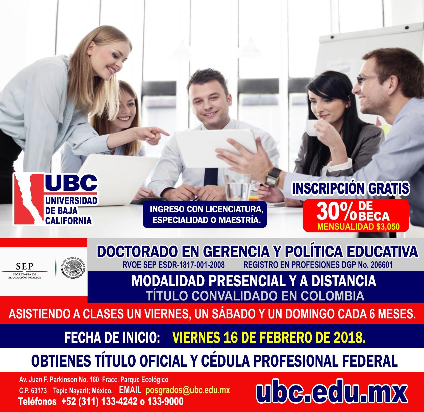Doctorado en Gerencia y Política Educativa