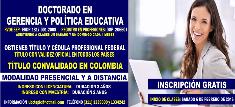 Doctorado en Política Educativa 2016