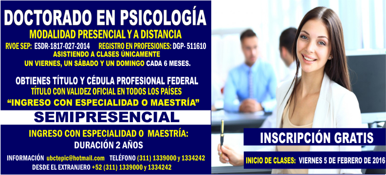 Doctorado en Psicología 2016