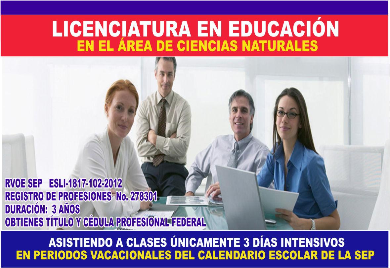 LIC. en Ciencias Naturales