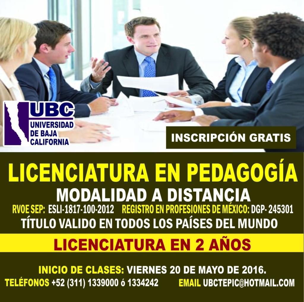 Lic. en Pedagogía